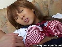 Mikan Tokonatsu Asian Schoolgirl Sucks A Cock And Fucks
