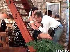 French mature wife is penetrated with all kind of stuff