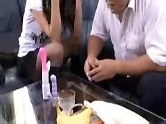 34yr old Maki Houjo & 3 Cocks Facialed & CreamedUncensored