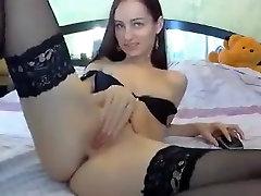 Russian camgirl Lunaa anal toying