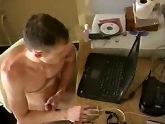 Incredible male in crazy big dick, handjob gay adult clip