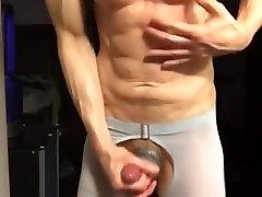 Erotic underwear bulge hardon webcam show