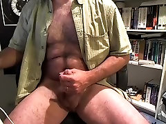 Sexy male is jerking in his room and filming himself on web camera