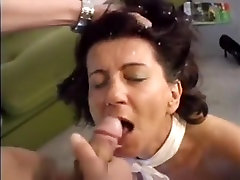 Pretty latin mature brunette make sex fun with his young dude in her home