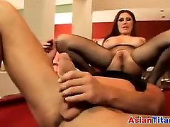 Busty Asian Beauty In Lingerie Wants Dick