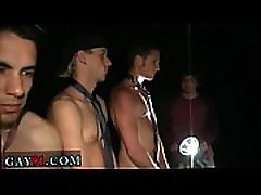 Naked male gay porn WTF one of the studs gobbles his own cum... ha