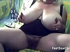 Blonde Granny Big Boobs masturbating