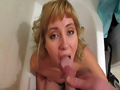 Drinking Piss from Her Masters Cock