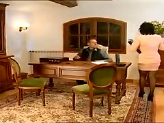 Vintage french mature in black stockings anal