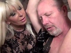 Goddess Storm femdom mdar and boy syxsi whipping bondage leather