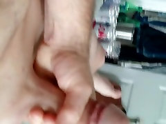 my shaved little dick getting hard watching porn