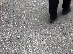 Sbbw big booty milf in black leggings 2