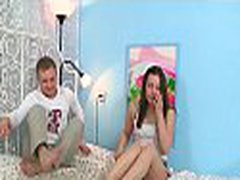 Playgirl having hot gang bang