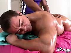 Sexy homo lad is being spooned during hawt massage