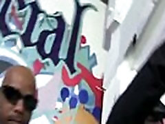 Interracial Blowbang - Black Dudes Fuck White Slut In Nasty Gangbang Fuck Video 22
