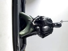 Rubber demask torpedo tits