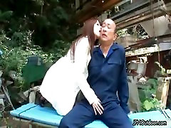 Sexy asian babe gets horny rubbing part1