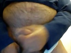 Peeing and cumming in wifes panties