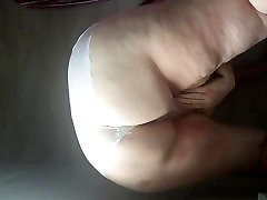Sunday morning pissing in my white panties