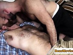 Muscular bear barebacking hairy bottom