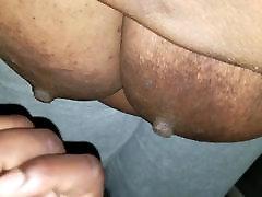 Load On Huge Ebony Nipples