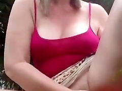Blonde Bitch Gets Her Nut Outside