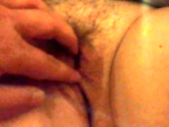 I can play with her hairy pussy, I love it!