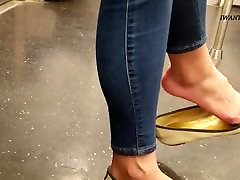 Candid asian lady sexy shoe dangle pt 2