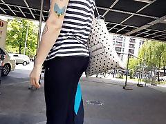 Candid Girl See Through Leggings 30