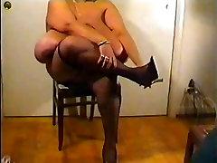 Sloppy big ebony boobs