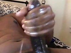 A big black cock and a big cumshot