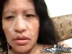 Bolivian Milf - Big Tits Anal Cumshot