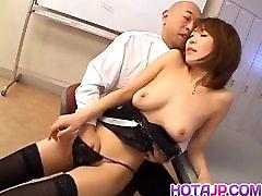 Jun Kusanagi Asian milf gets pussy licked and anus fing