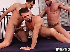 Hot gay flip flop with facial