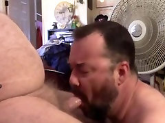 Blowing A Chubby Old Man