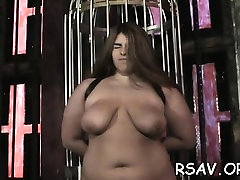 Older whore gets nipple and dirty cleft pinching bdsm style