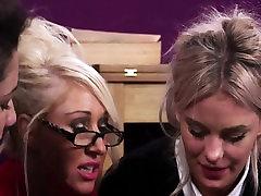 leeches in cock teacher sucking sub with uniformed teens