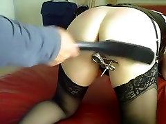 Incredible homemade BDSM, Stockings sex clip