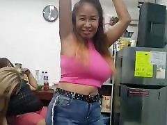 sexy big tits mature asian milf Belcy dancing