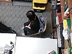 Teen thiefs face cumshot