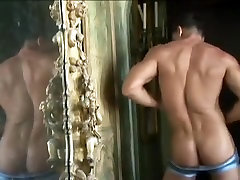 Crazy homemade gay movie with Muscle, Solo Male scenes