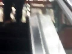 BBW Milf on Escalator