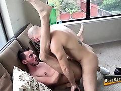 Gay bear eating guys ass