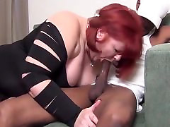 Two white BBWs share big black cock
