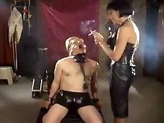 Crazy amateur Smoking, preggie wife does gangbang xxx video