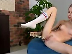 Hot Teen In White Socks With Big Dildo by FetishGreg88