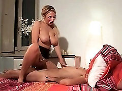 Bombshell Blonde with Big Natural Boobs Has A Titjob