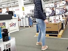 Redhead teen amazing jeans ass pantylines face slowmpart2