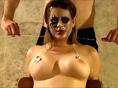 Horny homemade BDSM, wife boobs press cheating porn scene