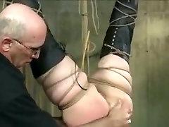 Incredible homemade Brunette, BDSM porn movie